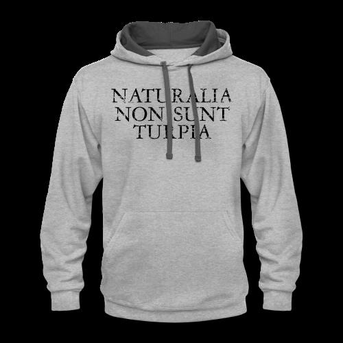 Naturalia Non Sunt Turpia (Vintage Black) S-5X T-Shirt - Contrast Hoodie