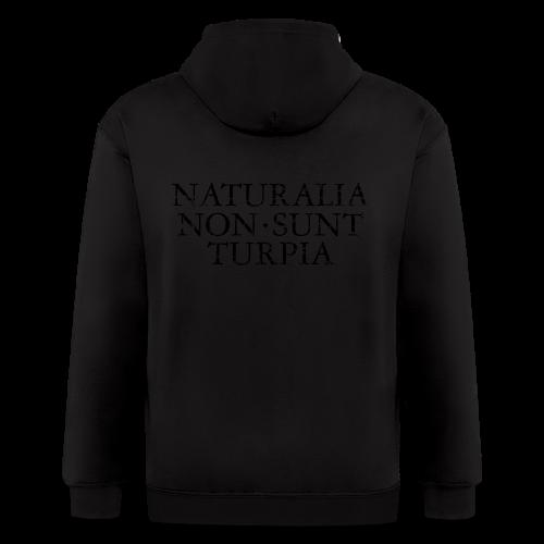 Naturalia Non Sunt Turpia (Vintage Black) S-5X T-Shirt - Men's Zip Hoodie