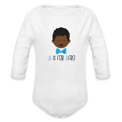 A is for Afro Tshirt - Toddler - Organic Long Sleeve Baby Bodysuit