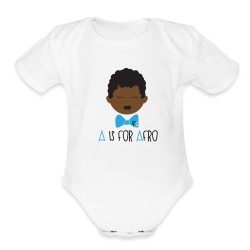 A is for Afro Tshirt - Toddler - Organic Short Sleeve Baby Bodysuit