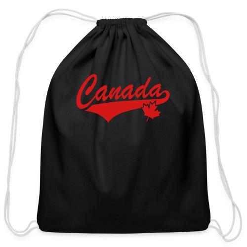 Canada 1-Sided  - Cotton Drawstring Bag