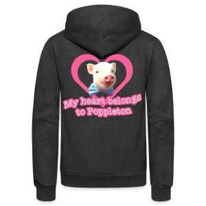 My Heart Belongs to Poppleton Womens - Unisex Fleece Zip Hoodie by American Apparel