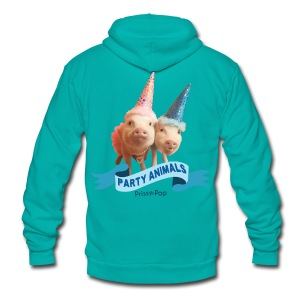 Kid's Party Animals - Unisex Fleece Zip Hoodie by American Apparel