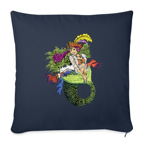 Pirate Mermaid - Throw Pillow Cover