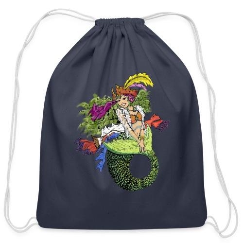 Pirate Mermaid - Cotton Drawstring Bag