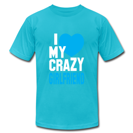 I Love My Crazy Girl Friend Mens T shirt - Men's T-Shirt by American Apparel