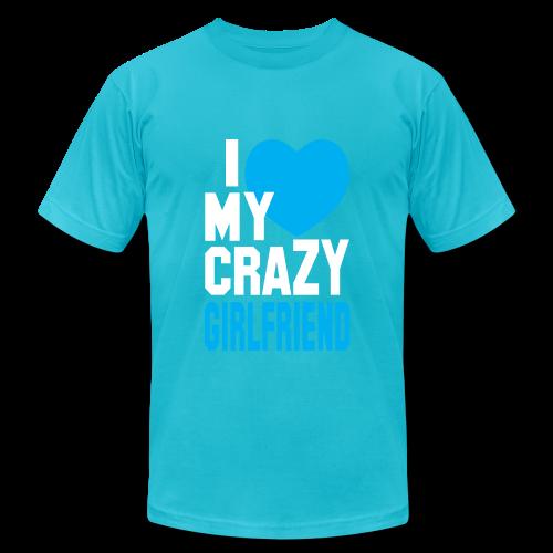 I Love My Crazy Girl Friend Mens T shirt - Men's Fine Jersey T-Shirt