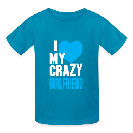 I Love My Crazy Girl Friend Mens T shirt - Kids' T-Shirt