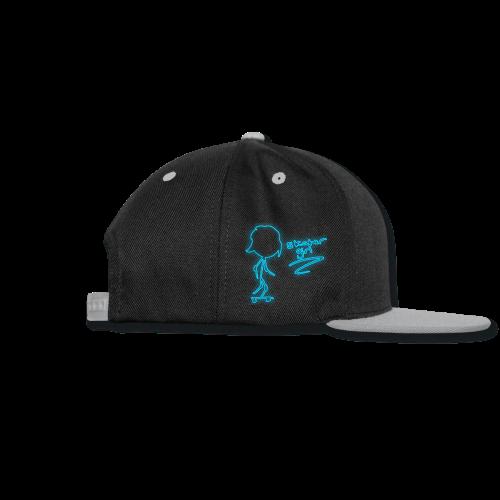 Skatergirl Neon Design - Snap-back Baseball Cap