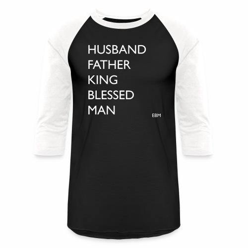 Husband Father King Blessed Black Man T-shirt Clothing | Black Fatherhood Shirts | African American Father's Day Shirts by Stephanie Lahart  - Baseball T-Shirt