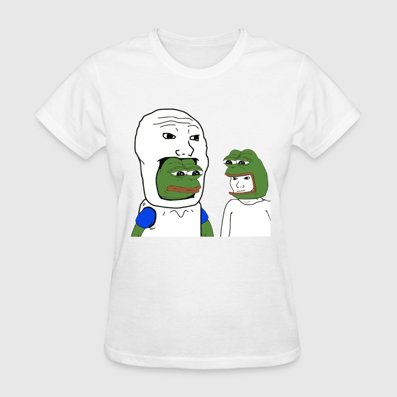 Pepe and Wojak Cosplay - Women's T-Shirt