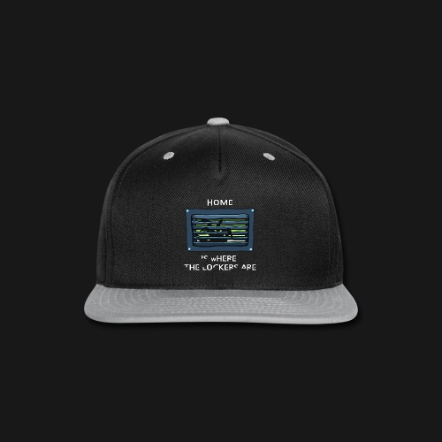 Women's Home is Where the Lockers Are - Snap-back Baseball Cap