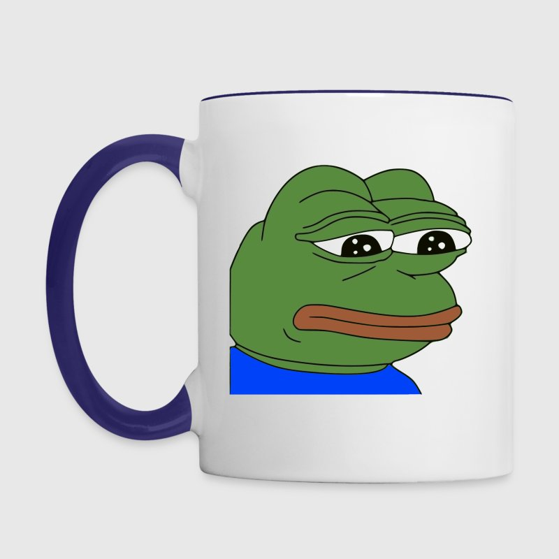 Sad Pepe - Contrast Coffee Mug