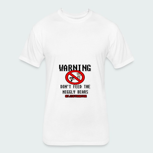 Don't Feed.... - Fitted Cotton/Poly T-Shirt by Next Level