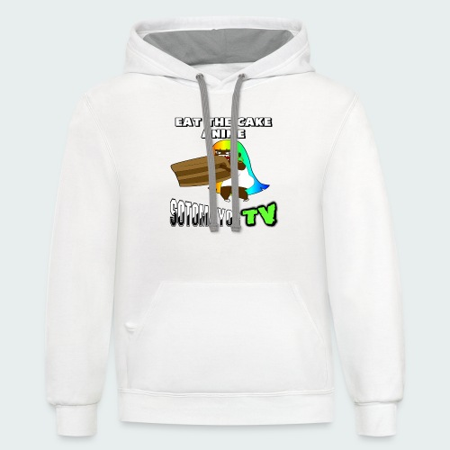 Eat The Cake.... - Contrast Hoodie