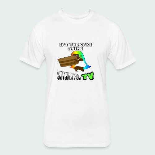 Eat The Cake.... - Fitted Cotton/Poly T-Shirt by Next Level