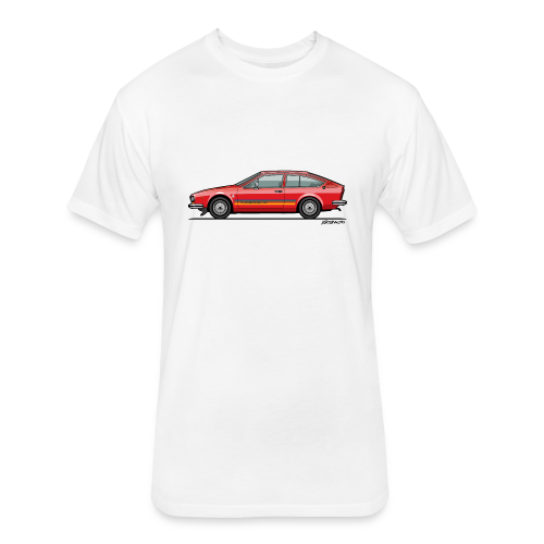 Alfetta GTV Turbodelta - Fitted Cotton/Poly T-Shirt by Next Level