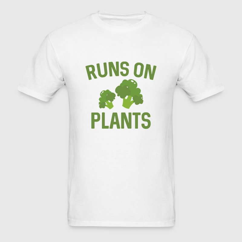 Runs On Plants - Men's T-Shirt