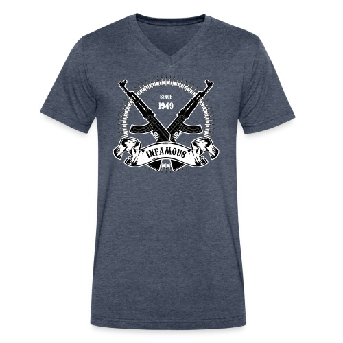 Infamous AK-47 - Men's V-Neck T-Shirt by Canvas