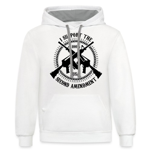 I Support The Second Amendment - Contrast Hoodie