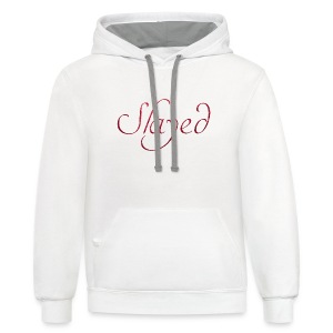 Slayed (pink text) - Contrast Hoodie