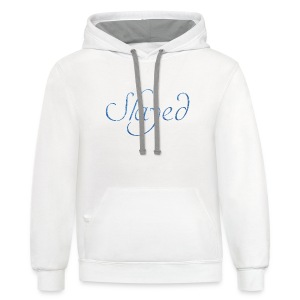 Slayed (light blue text) - Contrast Hoodie