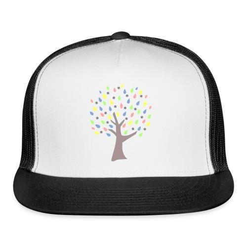 Memory Tree Pastel Shades  (Digital Print) - Trucker Cap