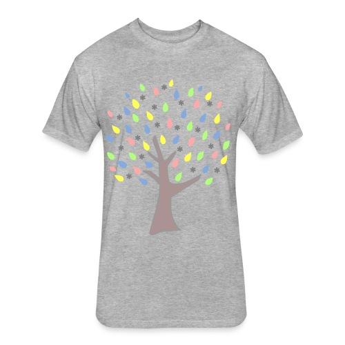 Memory Tree Pastel Shades  (Digital Print) - Fitted Cotton/Poly T-Shirt by Next Level