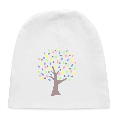 Memory Tree Pastel Shades  (Digital Print) - Baby Cap