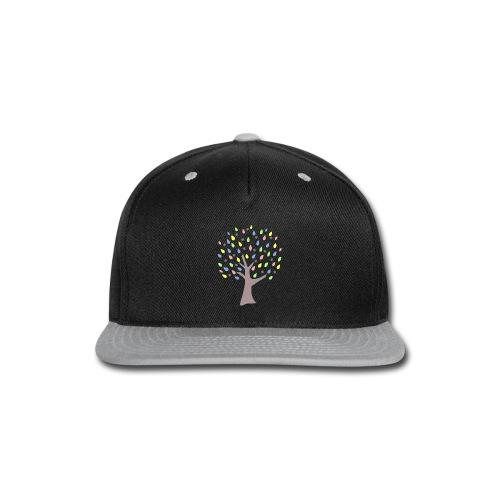 Memory Tree Pastel Shades  (Digital Print) - Snap-back Baseball Cap