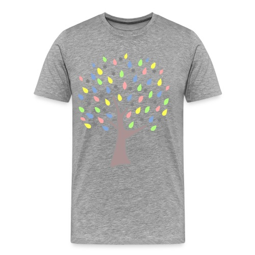 Memory Tree Pastel Shades  (Digital Print) - Men's Premium T-Shirt