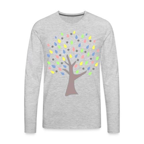 Memory Tree Pastel Shades  (Digital Print) - Men's Premium Long Sleeve T-Shirt