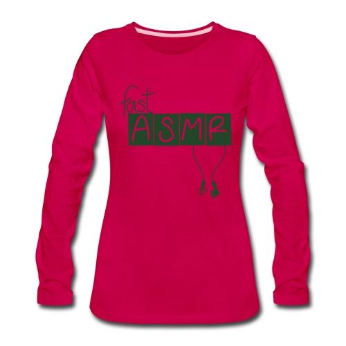 fastASMR Classic Logo - Women's Premium Long Sleeve T-Shirt