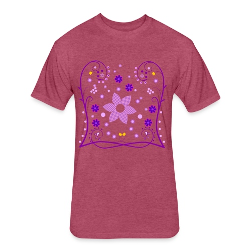 Spring Flowers Womens Shirt (Digital Print) - Fitted Cotton/Poly T-Shirt by Next Level