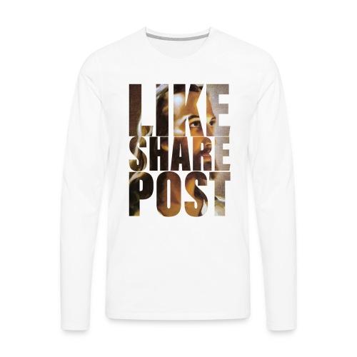 Like Share Post - Men's Premium Long Sleeve T-Shirt