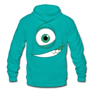 Monster T-shirt - Unisex Fleece Zip Hoodie by American Apparel