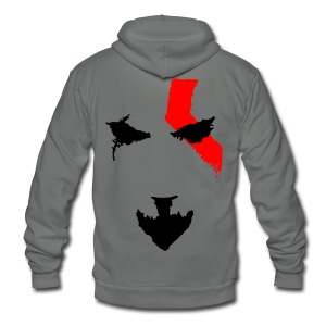 Kratos Minimal T-shirt - Unisex Fleece Zip Hoodie by American Apparel
