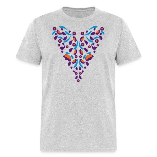 Lavender Pink and Light Green Florals Flex Print - Men's T-Shirt