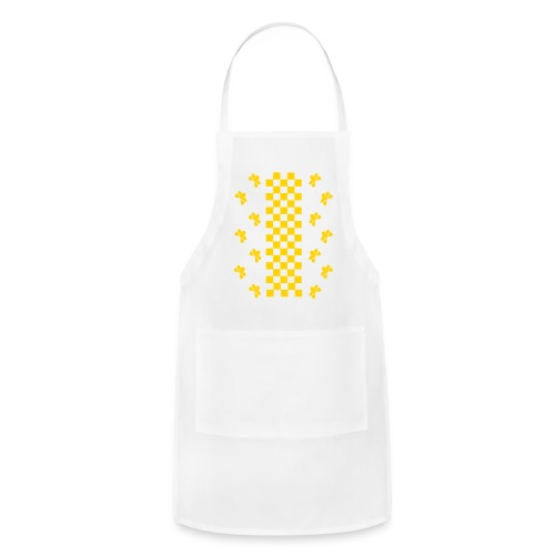 Golden Glitz Checkers Kids T Shirt (Specialty Print) - Adjustable Apron