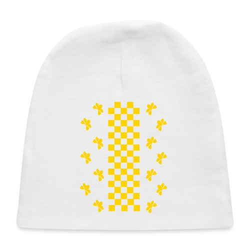 Golden Glitz Checkers Kids T Shirt (Specialty Print) - Baby Cap