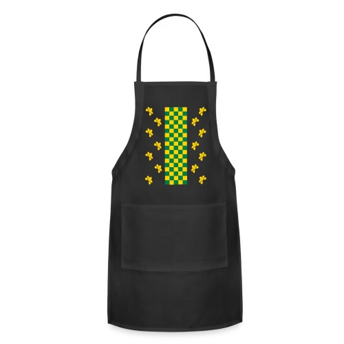 Green and Gold Checkers Womens Shirt (Velvety Print) - Adjustable Apron