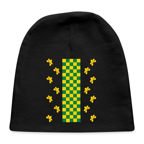 Green and Gold Checkers Womens Shirt (Velvety Print) - Baby Cap