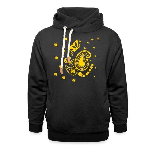 Golden Glitz Paisley Kids Shirt (Specialty Print) - Shawl Collar Hoodie