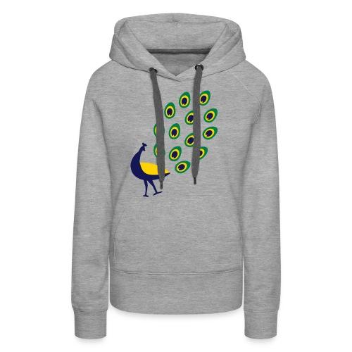 Dancing Peacock Kids T Shirt (Flex Print) - Women's Premium Hoodie