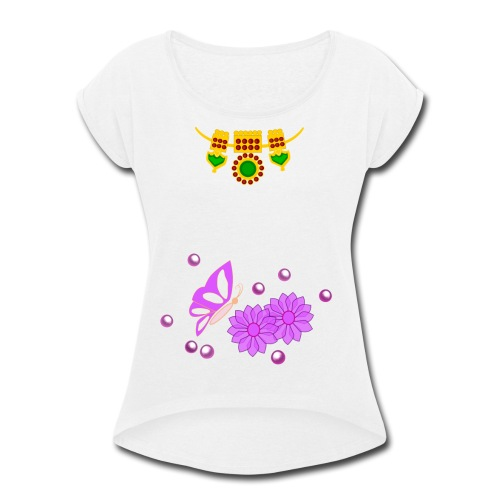 Special Day Kids T Shirt (Digital Print) - Women's Roll Cuff T-Shirt