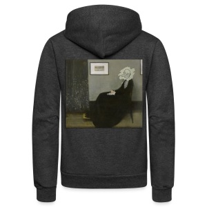 Whistlers Mother Mr Bean - Unisex Fleece Zip Hoodie by American Apparel
