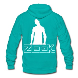 Zeek Zombie T-shirt (2) - Unisex Fleece Zip Hoodie by American Apparel