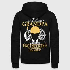 A grandpa with an engineering degree Engineer - Unisex Fleece Zip Hoodie by American Apparel