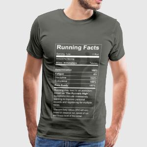 Running - All running facts awesome t-shirt - Men's Premium T-Shirt