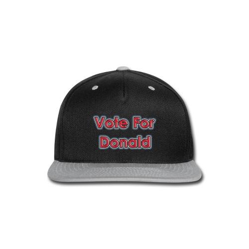 Vote For Trump T-Shirt - Snap-back Baseball Cap